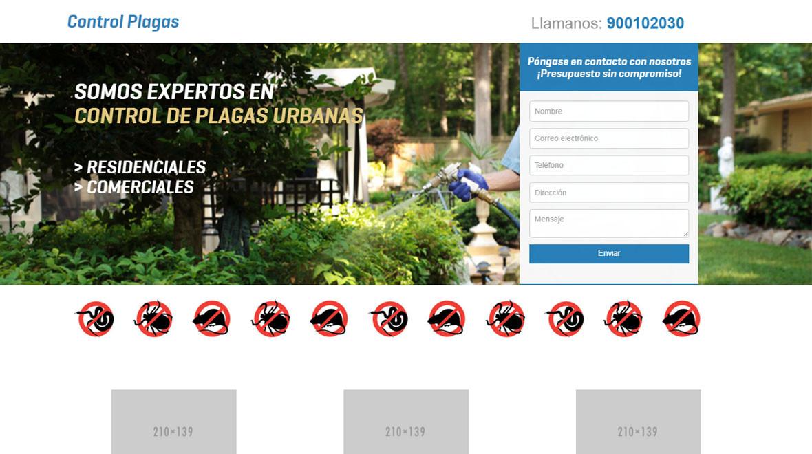 Plantilla Control de Plagas HTML   Gealtra Theme/Template