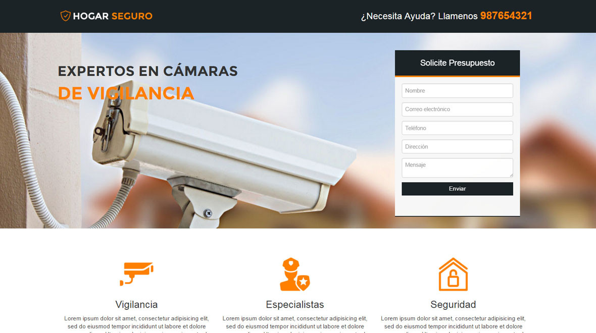 Plantilla Seguridad y Alarmas HTML | Theme/Template Gealtra